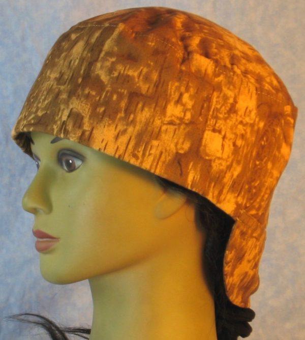 Welding Cap in Brown Mustard Yellow Wood Camo-left
