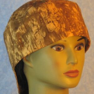 Welding Cap in Brown Mustard Yellow Wood Camo-right