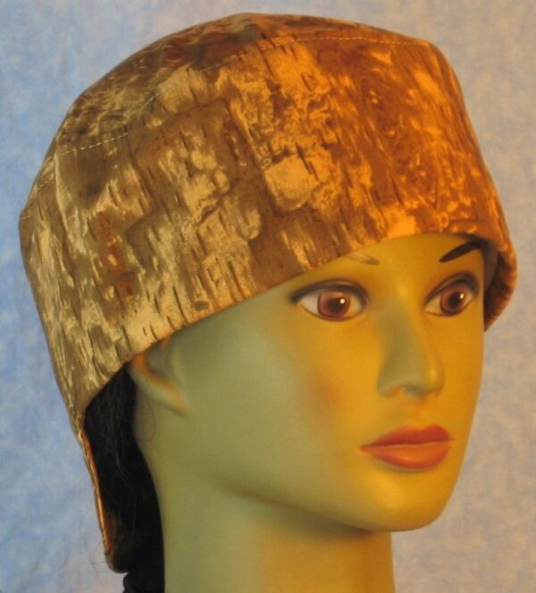 Welding Cap in Brown Mustard Yellow Wood Camo-right