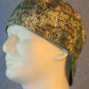 Welding Cap in Green Turquoise Yellow White with Gray Roping-left