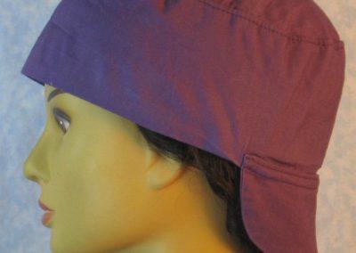Welding Cap in Purple-left