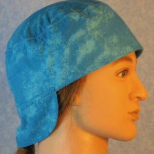 Welding Cap in Turquoise Blue Motley-right