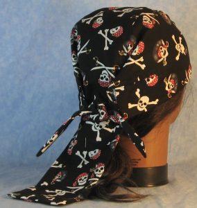 Do Rag in Black Pirate Skulls-back
