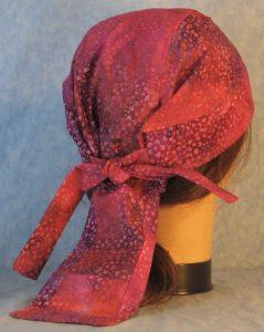 Do Rag in Pink Purple Small Flower Batik-back