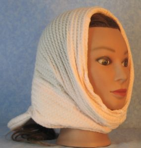 Hood in Light Pink Waffle Knit-right