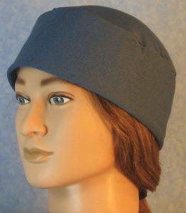 Skull Cap in Ice Blue Moisture Management AlphaTek Heather-front