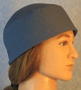 Skull Cap in Ice Blue Moisture Management AlphaTek Heather-right
