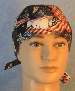 Hair Bag in Red White Blue Flags Eagle Head Eagle Flying-front