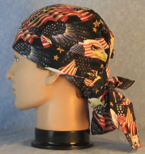 Hair Bag in Red White Blue Flags Eagle Head Eagle Flying-left