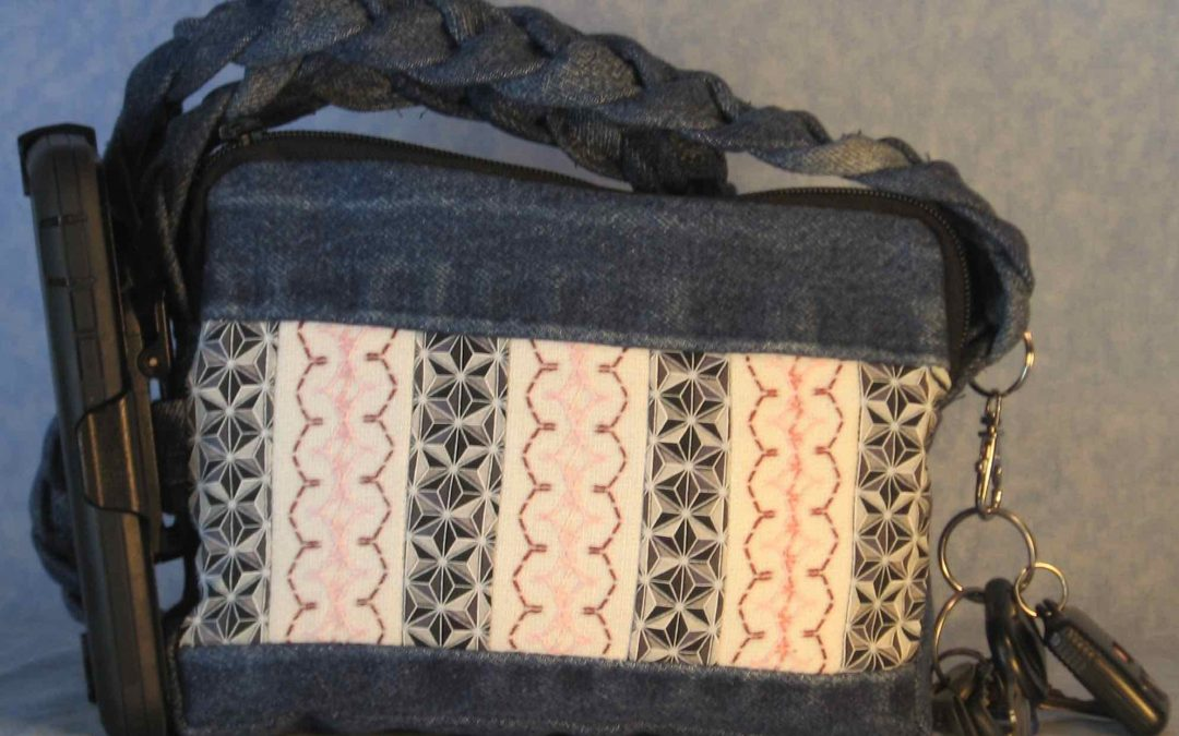 2020 MAR 13 Jeans Swedish Weaving Purse