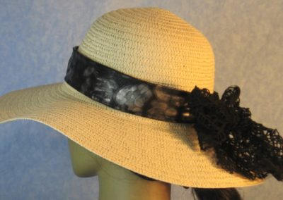 Floppy Band in Black Gray Cheetah Blue Sparkle Ties Black Mesh Net-left