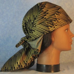 Head Wraps in Gold Columns on Black-right