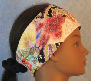 Headband in Floral Mosaic Rose Paisley-right