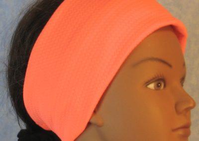 Headband in Peach Knit in Slant Stripe-right