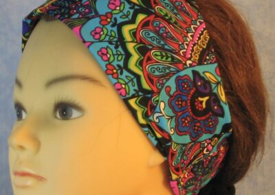 Headband in Peacock Flower-left