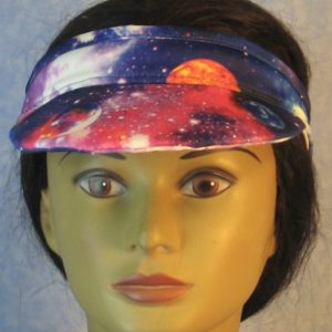 Visor in Blue Pink Purple Galaxy-front