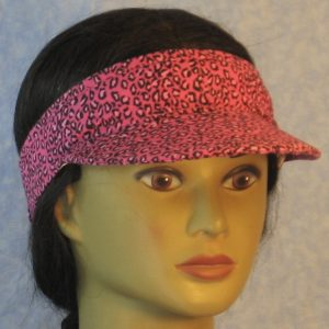 Visor in Pink Leopard-right front
