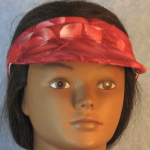 Visor in Rosy Leaf with Straight Sticks-front