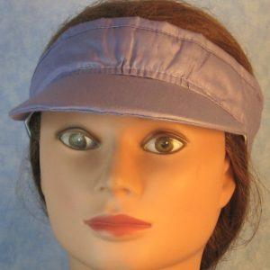 Visor in Violet Polished Cotton-front