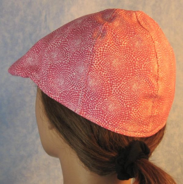 Duckbill in Pink Dotted Swirls on White-back