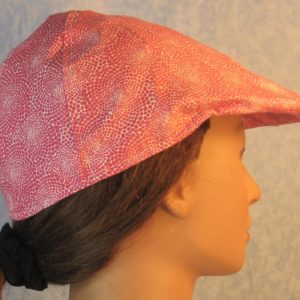 Duckbill in Pink Dotted Swirls on White-right