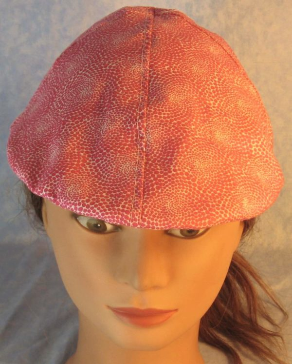 Duckbill in Pink Dotted Swirls on White-top