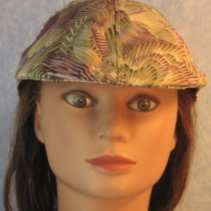 Duckbill in Purple Green Tan Cream with Gold Kaleidoscope-front
