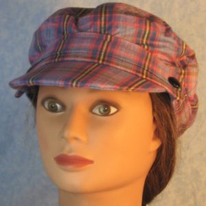 Fisherman in Blue Pink Lavender Yellow Plaid-front left