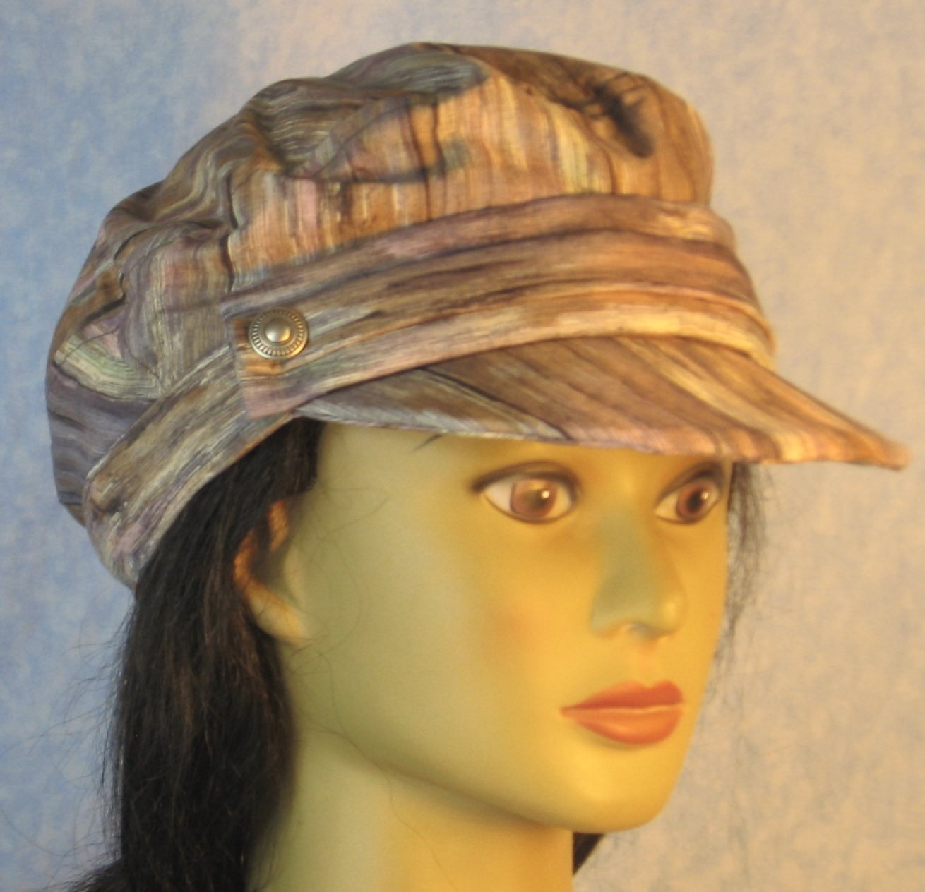 Fisherman in Gray Lavender Tan Cream Wood-front right