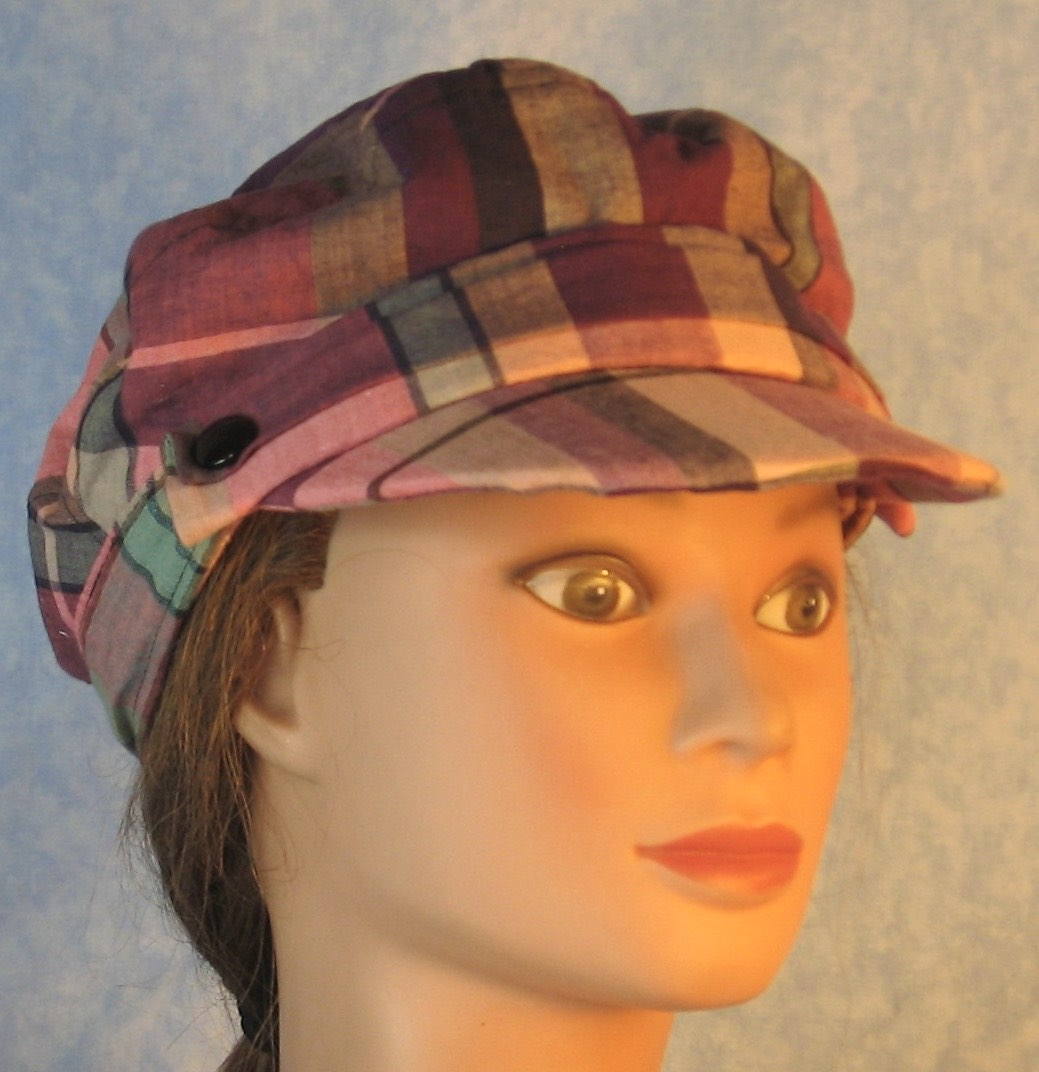 Fisherman in Pink Purple Green Black Plaid-front right