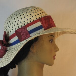 Floppy Band in Red Eagle Figure on Red Patchwork Red White Blue Stripe-right