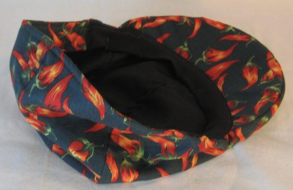 Duckbill Red Orange Pepper on Dark Green-inside