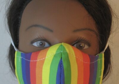 Face Mask Rainbow Stripe-front