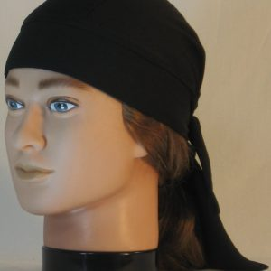 Do Rag in Black Wicking CoolPlus - front left