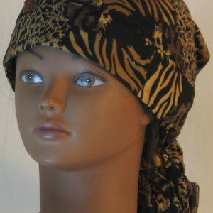 Hair Bag in Wild Animal Prints in Black Browns - front