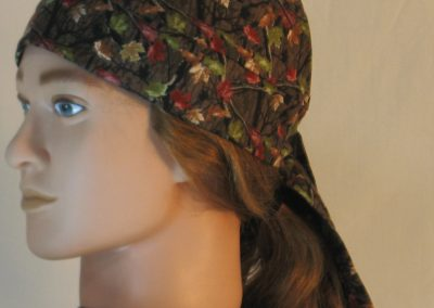 Do Rag in Fall Leaves Camo on Brown - left