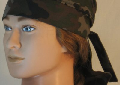 Do Rag in Olive Green Brown Black Camo - left