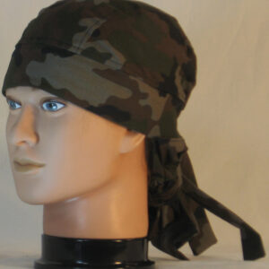 Hair Bag in Olive Green Brown Black Camo - left