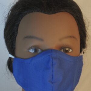 Face Mask in Royal Blue - Front
