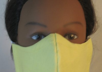 Face Mask in Light Yellow - front