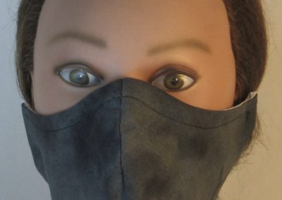 Face Mask in Black on Gray Smoky - front