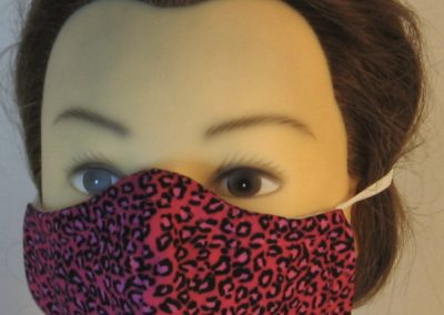 Face Mask in Pink Leopard - front