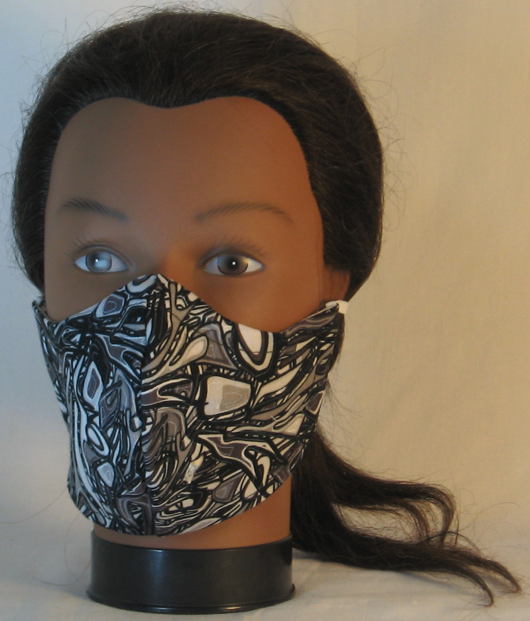 Face Mask in Black Black Oily - front