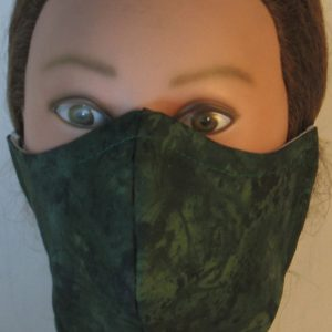 Face Mask in Green Green Motley - front