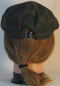 Ivy Flat Cap in Green Dark Forest Green Plaid Shirting - back