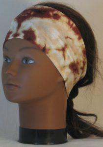 Headband in Brown Tan Cream Drop Dye - left