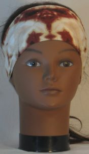 Headband in Brown Tan Cream Drop Dye - front