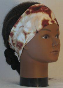 Headband in Brown Tan Cream Drop Dye - right