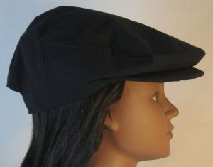 Ivy Flat Cap in Black- right