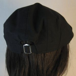 Ivy Flat Cap in Black- back